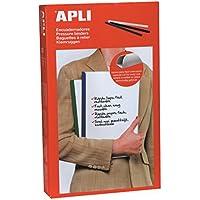 APLI 2205-Encuadernadores deslizantes 5 mm color negro