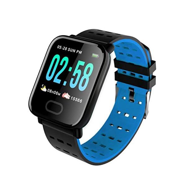 Pulsera inteligente con monitor de actividad física, pantalla de color A6, Bluetooth, monitor de ritmo cardíaco… 1