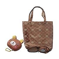 Cartoon Anime Folding Shopping Tote Reusable Eco Bag Panda Frog Pig Bear Waterproof Shopping Bag Grocery Handbags