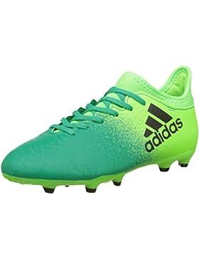 Adidas X 16.3 FG J - Botas de fútbolpara niños, Verde - (Versol/Negbas/VERBAS), -3