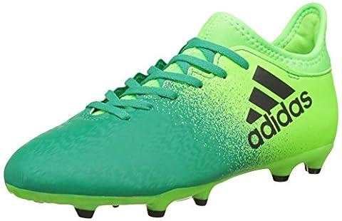 Adidas X 16.3FG J-Stiefel fútbolpara Kinder, Grün–(Versol/negbas/Vol), 35