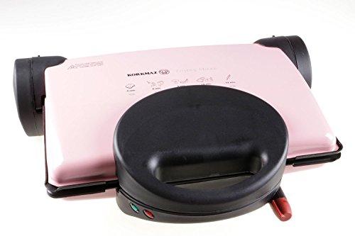 Korkmaz MAXI A308-02 Pink Tostez Toaster Edelstahl Toast Sandwichtoaster Grill Rosa