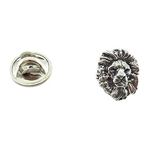 Pewter ~ Lion Head ~ Mini-Pin ~ M102MP by Creative Pewter Designs