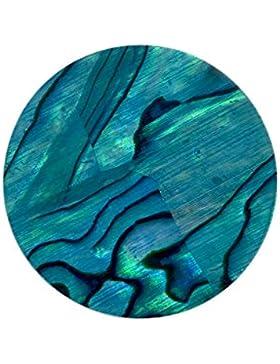 Quiges Coins 25mm Small Anhänger Perle Blau für Coin Anhänger Small