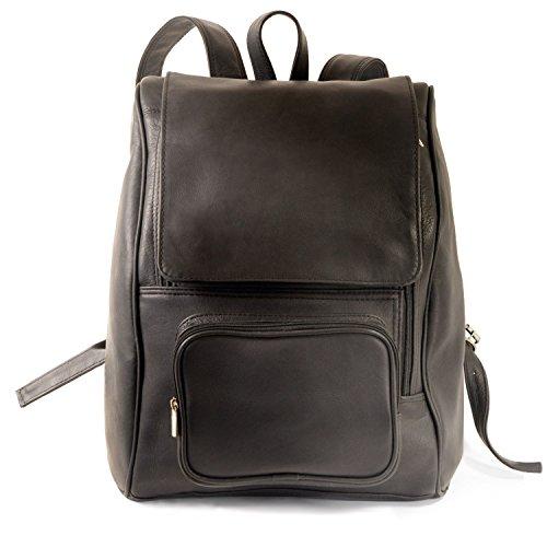 Großer Lederrucksack Größe L/Laptop Rucksack bis 15,6 Zoll, für Damen und Herren, Schwarz, Jahn-Tasche 711