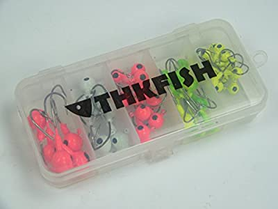 44pcs Lot Fishing Jig 2g 4g 6g 8g 10g Sinker Lead Jig Head Hook Fishing Hook Set with Plastic Fishing Box from thkfish