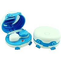 ROSENICE Limpiador de lentes de contacto, para cuidado diario, dispositivo de limpieza ultrasónico portátil con espejo y pinza