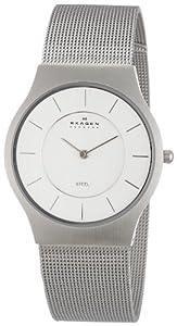 Skagen Slimline 233LSS - Reloj de caballero de cuarzo, correa de acero inoxidable color plata de Skagen