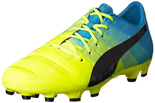 Puma Evopower 1.3 Ag, Chaussures de football homme Jaune - Gelb (safety yellow-black-atomic blue 01)