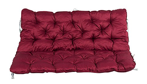 Meerweh Auflage mit Rückenteil für Bank, rot, 120 x 98 x 10 cm, 74084