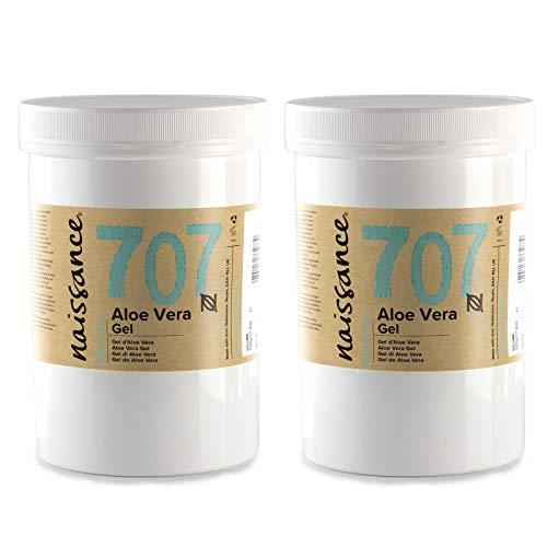Naissance Gel di Aloe Vera 1kg (2 x 500g) - Cruelty free e Vegano. Lenisce, rinfresca e idrata la pelle. Adatto a tutti i tipi di pelle
