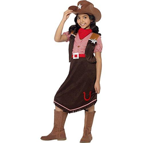 Kinder Westernkostüm Cowgirl Kostüm S 4-6 Jahre 110-128 cm Western Cowgirlkostüm Sheriff Kinderkostüm Wilder Westen Rodeo Mädchenkostüm Indianerparty Faschingskostüm Mädchen Kostüme Fasching
