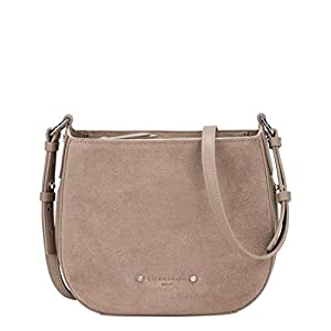 Liebeskind Berlin Damen Double Pipe Suede-Crossbody Medium Umhängetasche, 9x22x23 cm