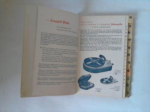 Die Ernte. 1952/53. Hauptverzeichnis Telefunken - und Capitol-, Normal- und Langspielplatten