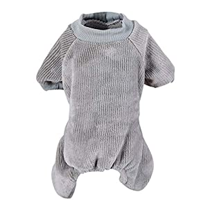 Handfly Pyjama de Chien Jumpsuit, Pull en Molleton Chaud, vêtements de Chiot en Pyjama, Manteau de Manteau de Chat Chien Chien vêtements pour Petits et Moyens Chiens