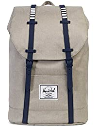 Herschel Retreat Backpack Rucksack 43 cm, light khaki crosshatch/peacoat