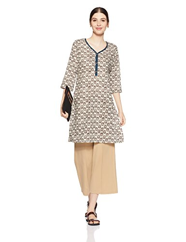Karigari Women's A-Line Kurta (400017534633_Off-White_Medium)
