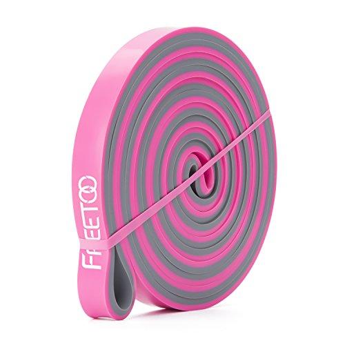 FREETOO Resistance Band Fitnessbänder professionelle Latex Widerstand Bänder Pull-Up Bänder Klimmzughilfe für Bodybuilding/Yoga/Krafttraining/Crossfit in 4 Stärken (J) -