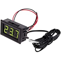 Youlin - Termometro digitale a LED, con sonda, -50~110 °C, per acquario, terrario e frigorifero/congelatore Comme montré verde