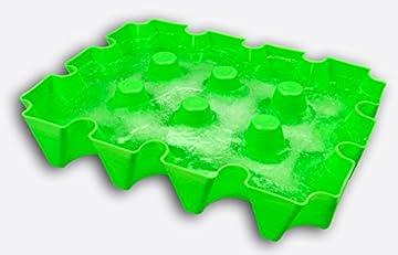 SL-Eisblock - Bierkühler, neon - grün, Getränkekühler 0,5 Liter Flaschen der sl-EISBLOCK Bierkastenkühler ist MADE IN GERMANY (neon - grün)