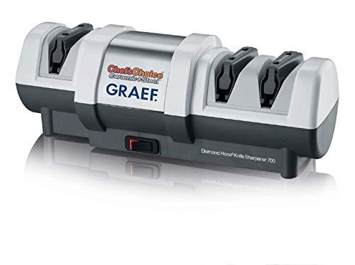 Graef CC250DE Professioneller, elektrischer Diamant-Messerschärfer für Stahl-, Keramik- und japanische Messer