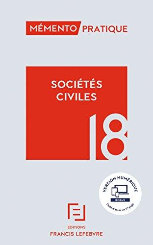 MEMENTO SOCIETES CIVILES 2018