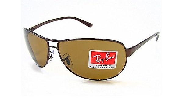 31f1c2c9566 RAY-BAN RAYBAN RB 3342 Warrior Brown 014 57 Polarized Sunglasses   Amazon.co.uk  Clothing