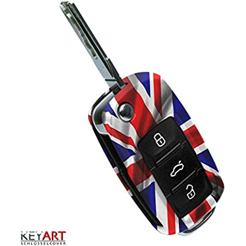 Llave Key Cover para VW Skoda Seat llaves diseño Union Jack