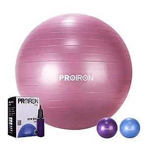 PROIRON Gymnastikball Sitzball Pezziball 55cm Rot mit Ballpumpe