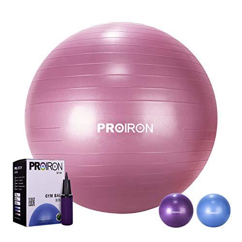 PROIRON Ballon de Fitness Suisse Epais Exercice de Yoga Gym Stabilité Anti-explosion avec Pompe à Main