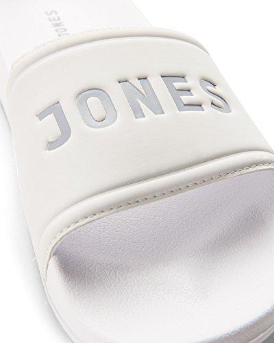 JACK & JONES Herren Jfwlarry Pool Slider Bright White Geschlossene Sandalen Weiß (Bright White Bright White)
