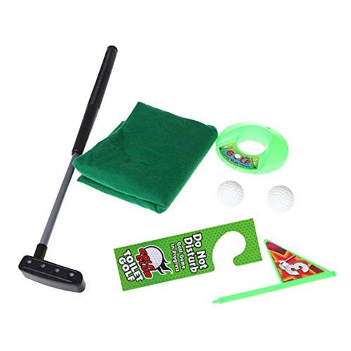 Kongqiabona Potty Golf Putter Wc Golf Spiel Mini Golf Set Wc Golf Putting Green Neuheit Spiel Für Männer Und Frauen Praktische Witze