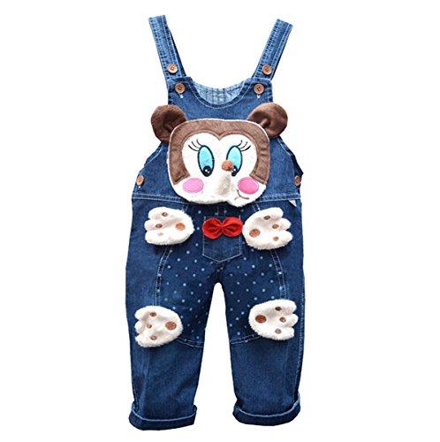 Unisex Baby gewaschene Denim Overall Romper Bib Pants Hosenträger LatzHose