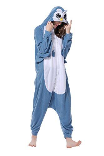 e Cosplay Unisex Tierschlafanzug Halloween Weihnachten Karnevals Geburtstags Party (L) (Halloween-kostüm Eule)