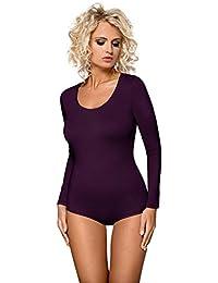 Damen Langarm Body Unterwäsche Bodywear Tanz Bodys von Gaia BDV021