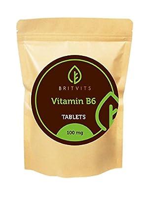 Vitamin B6 Pyridoxine HCL 100mg BULK x 1000 Tablets from Healthy Mood