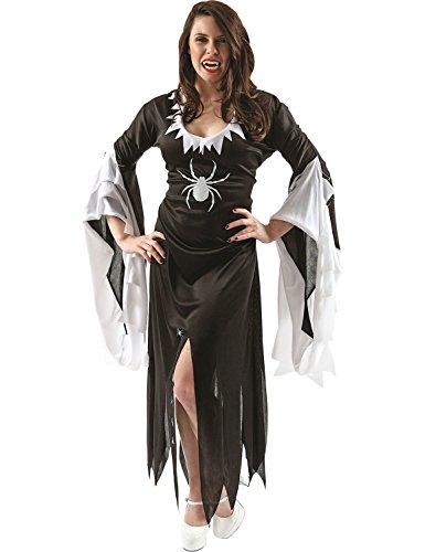 Damen Der Zauberin Hexe Halloween Karneval Verkleidung Kostüm Medium (Zauberin Kostüme)