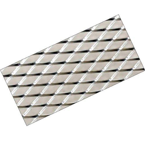 G92 - aluminium argent Mesh de course sport Alu-métal déployé grille Mesh Grill Fairing insert 120x20cm pour les pare-chocs spoiler ventilation grill
