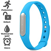 UIMI TW02 Fitness Band with 3 Indicator Lights (Blue)