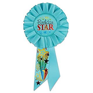 Beistle RS167Geburtstag Star Rosette, 3–1/4-Zoll von 6–1/2Zoll