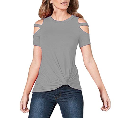 8999532a HULKY Womens T-Shirt Vente Nouveau Dames sans Bretelles Épaule Froide À  Manches Courtes Occasionnel