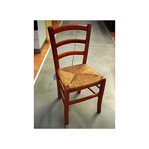 Cherry Küche Stuhl (Estea Möbel Bürostuhl Holz 2Stück Stühle Esszimmer Küche mit Cherry Bar Restaurants-119spciliegio)