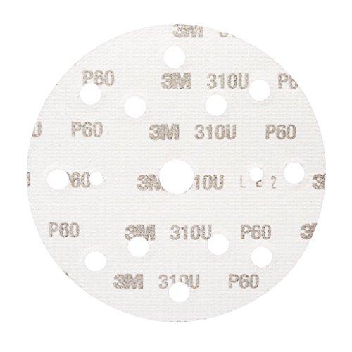 3M Hookit Kletthaftende Scheibe 310U, 150 mm, P60, LD861A, 50 Stück / Karton
