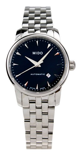 Mido Women's Analogue Watch with Black Dial Analogue Display and Stainless steel plated gun metal - M76004181