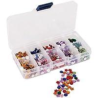 Papermania - Set de joyas decorativas con organizador (750 piezas), diseño de flores y piedras
