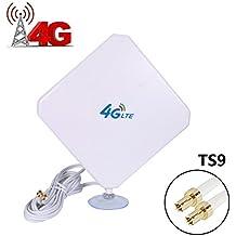 4G LTE Antenne TS9, Connecteur Amplificateur de Signal d'extérieur récepteur 35dbi Haut Gain Réseau à Longue Portée Ethernet pour Wifi routeur haut débit mobile (TS9)