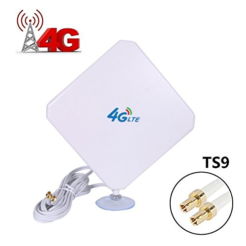 4G LTE Antenna Dual Mimo 35dBi High Gain Network Ethernet Outdoor Antenna Signal Receiver Booster Amplifier for Wifi Router Mobile Broadband (TS9)