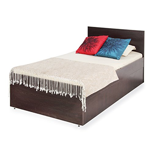 Forzza Shelly Single Size Bed with Storage (Matte Finish, Wenge)