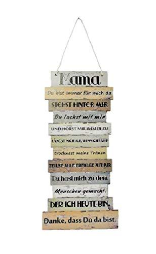 Schild Plankenschild Bild Danke Mama Sprüche 15 x 32 cm
