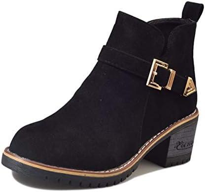 KOKQSX-l'autunno e e e l'inverno martin gli stivali smerigliato selvaggio con 5 cm corto stivali scarpe da donna. 35 nero B07H3TFJVN Parent | Bel Colore  | diversità  ded134